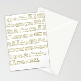 Marco's train - Bronze Stationery Cards