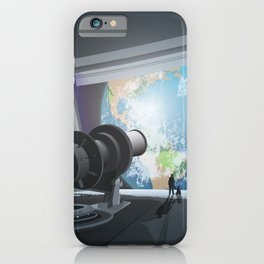 Horizon Lunary Colony Travel Poster iPhone Case