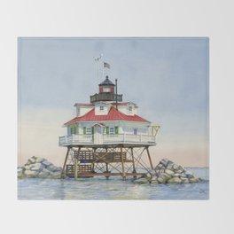 Thomas Point Light Throw Blanket