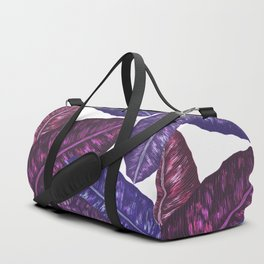 Tropical Leaves - Ultra Violet 1 Duffle Bag