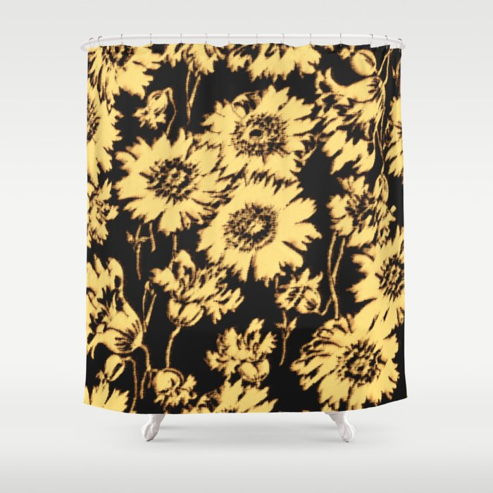 poppy floral in cream Shower Curtain by mpzstudio | Society6