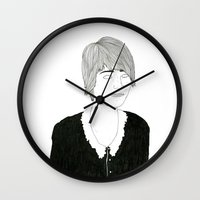 sister Wall Clocks featuring another sister by David Penela