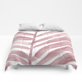 Pink Palm Leaf Crop Comforters
