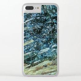 Blue Tourmaline Clear iPhone Case