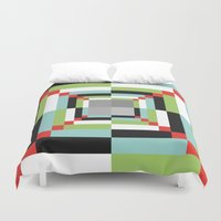 illusion Duvet Covers featuring Illusion by Susana Paz