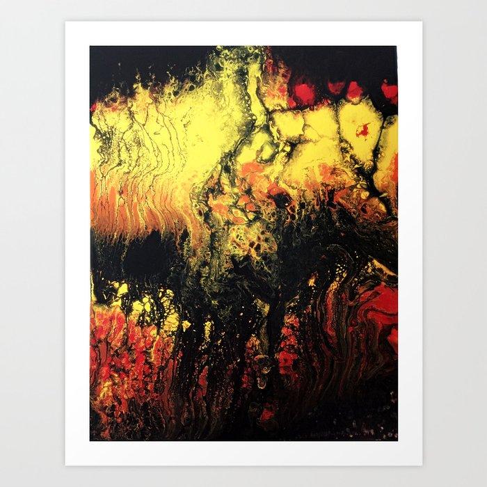 Flowing lava Art Print