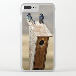 Two Tree Swallows Clear iPhone Case