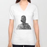 nurse V-neck T-shirts featuring nurse by gordon rabut