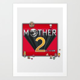 Alternative Mother 2 / Earthbound Title Screen Art Print