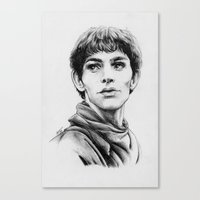 merlin Canvas Prints featuring Merlin by Anna Tromop Illustration
