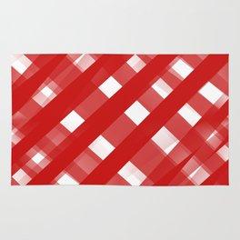 Red Plaid Illusions Rug