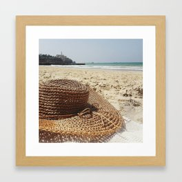 sitting by the water Framed Art Print