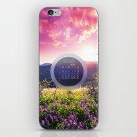 calendar iPhone & iPod Skins featuring CALENDAR JANUARY 3 by Ylenia Pizzetti
