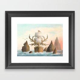 The Antlered Ship_Cover Framed Art Print