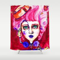cake Shower Curtains featuring Cake by Kathryn Woodward