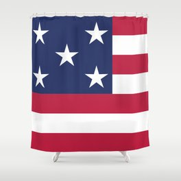 Simplified American Flag Shower Curtain