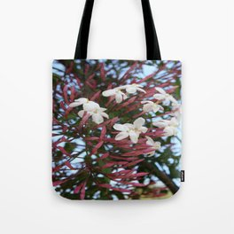 Pink Buds and Jasmine Blossom Close Up Tote Bag