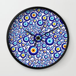 Evil eye pattern Wall Clock