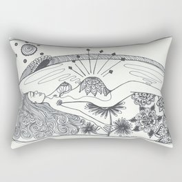 A peaceful next stage Rectangular Pillow