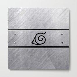 Naruto Headband Metal Print