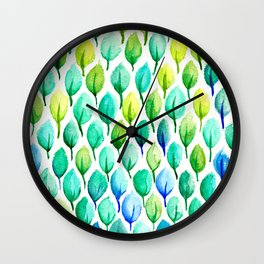 Cool Summer Green Wall Clock