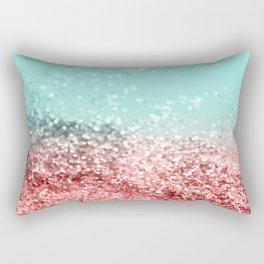 Summer Vibes Glitter #5 #coral #mint #shiny #decor #art #society6 Rectangular Pillow