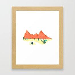 Pink Mountainscape Framed Art Print