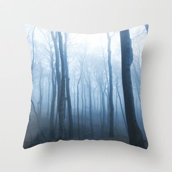 Foggy Woods #society6 #buyart Throw Pillow