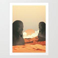 Desert and Gods  Art Print