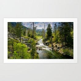 Lily Lake, Lake Tahoe, California Art Print