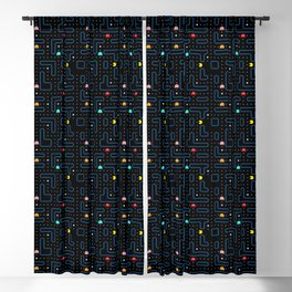 Pac-Man Retro Arcade Video Game Pattern Design Blackout Curtain