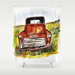 Rusted Farm Truck Shower Curtain