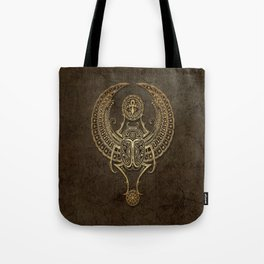 Stone Winged Egyptian Scarab Beetle with Ankh Tote Bag