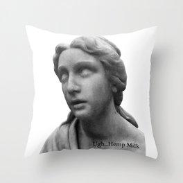UGH...Hemp Milk Throw Pillow