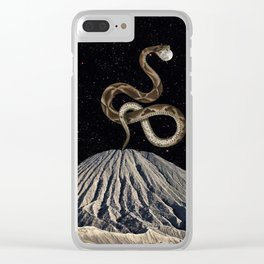 Reach for the moon Clear iPhone Case
