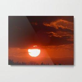 Firery Sunset Metal Print