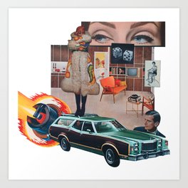 Station Wagon in the Living Room Art Print