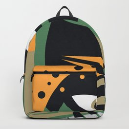 Abstract Jazz Concept, Piano Player, Music pop art Backpack