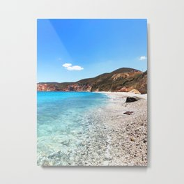 258. Paradise Beach, Greece Metal Print