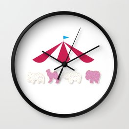 Cookie Circus Wall Clock