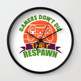 Gamer Respawn Gaming Wall Clock
