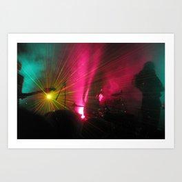 STRFCKR concert lasers Art Print