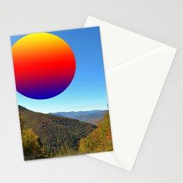 Rainbow moon Stationery Cards