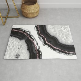 Agate Glitter Glam #8 #gem #decor #art #society6 Rug