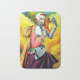 An Android in Nature Bath Mat