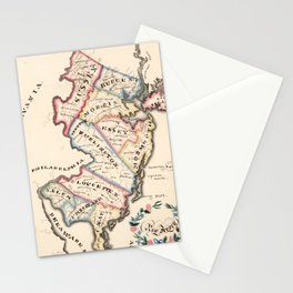 Vintage Map of New Jersey (1819) Stationery Cards