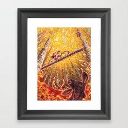 Mountain Station Deer Framed Art Print