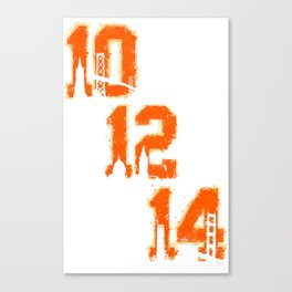 Black / Orange  Canvas Print