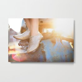 Sunny Shoes Metal Print