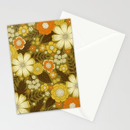 1970s Retro/Vintage Floral Pattern Stationery Cards